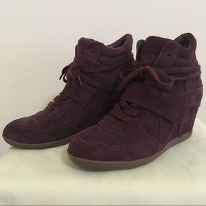 ASH Limited Edition Bowie Wedge Sneaker.Color:Plum
